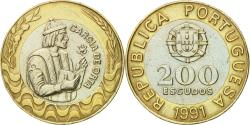 World Coins - Coin, Portugal, 200 Escudos, 1991, , Bi-Metallic, KM:655