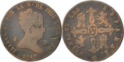 World Coins - SPAIN, 8 Maravedis, 1848, Segovia, KM #531.3, , Copper, 9.84