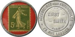 World Coins - Coin, France, Kirby Smith, Automobiles, 5 Centimes, Timbre-Monnaie,