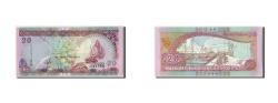 World Coins - Maldives, 20 Rufiyaa, 2000/AH1421, KM:20a, Undated, UNC(65-70)