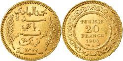 World Coins - Coin, Tunisia, Muhammad al-Hadi Bey, 20 Francs, 1904, Paris, , Gold