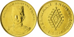 World Coins - BRUNEI, Cent, 2013, , Brass Clad Steel