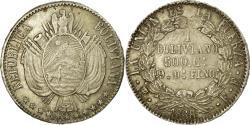 World Coins - Coin, Bolivia, Boliviano, 1868, , Silver, KM:152.2