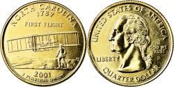 Us Coins - Coin, United States, North Carolina, Quarter, 2001, U.S. Mint, Denver, golden
