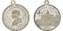 World Coins - Vatican, Leone XIII, Religions & beliefs, Medal, 1869, , Tin, 32