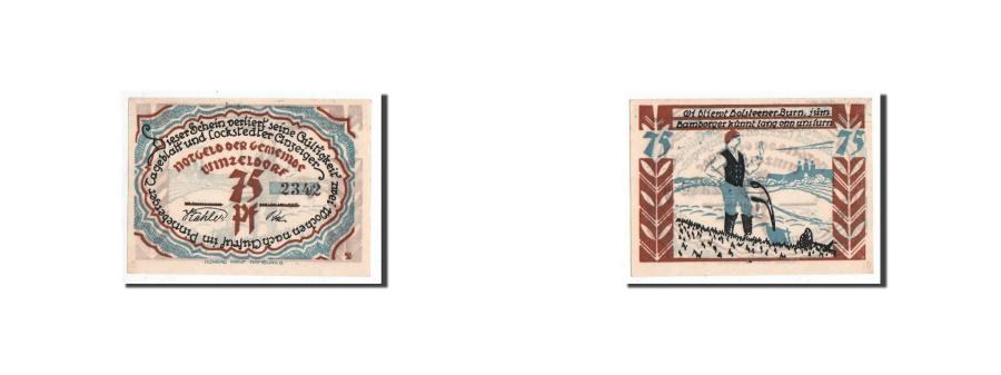 World Coins - Germany, Winzeldorf, 75 Pfennig, personnage, Undated, UNC(65-70), Mehl:1436.1