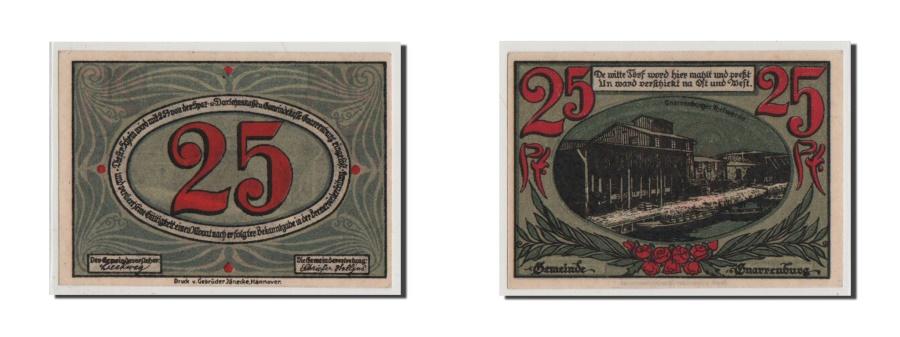 World Coins - Germany, Gnarrenburg Gemeinde, 25 Pfennig, UNC(65-70), Mehl #443.1