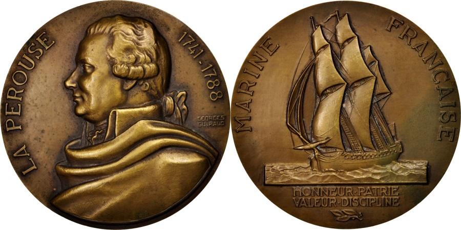 World Coins - France, Medal, Marine Française, La Pérouse, Shipping, Guiraud,