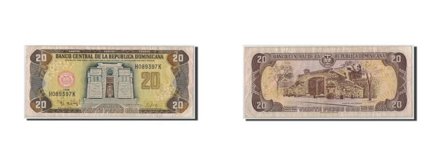 World Coins - Dominican Republic, 20 Pesos Oro, 1998, KM:154b, VF(20-25)