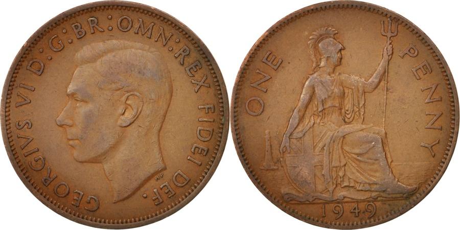 World Coins - Great Britain, George VI, Penny, 1949, , Bronze, KM:869