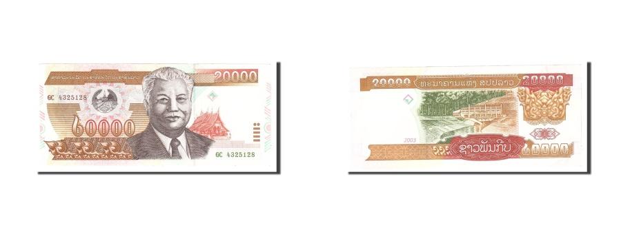 World Coins - Lao, 20,000 Kip, 2003, Undated, KM:36b, UNC(63)