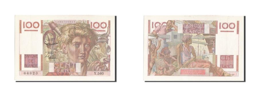 World Coins - France, 100 Francs, 100 F 1945-1954 ''Jeune Paysan'', 1953, KM #128e,...