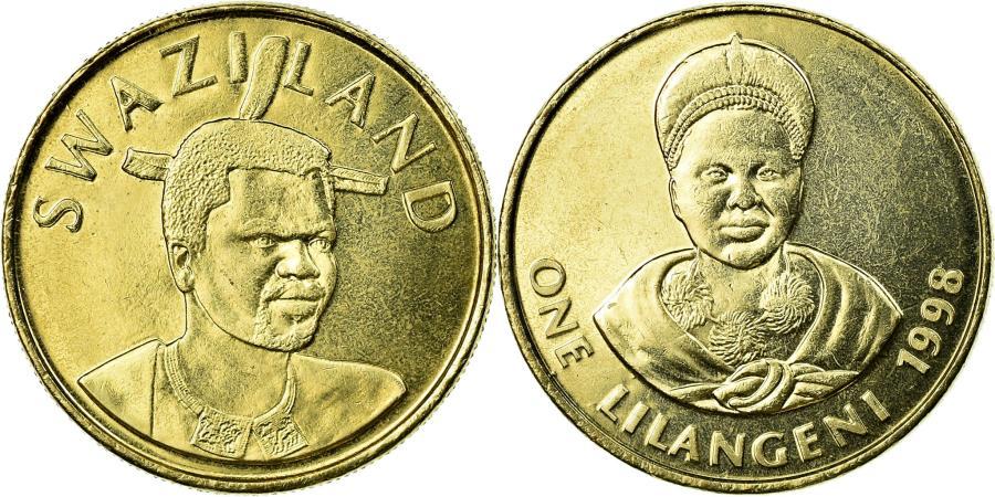 World Coins - Coin, Swaziland, King Msawati III, Lilangeni, 1998, British Royal Mint