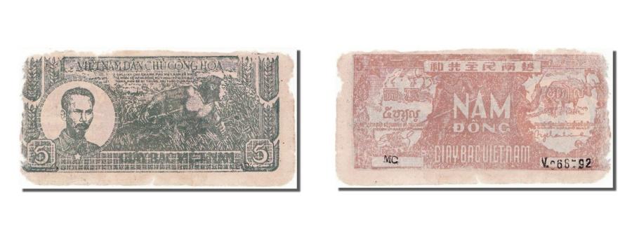 World Coins - Viet Nam, 5 Dng, 1948, KM #17a, VF(30-35), V066792