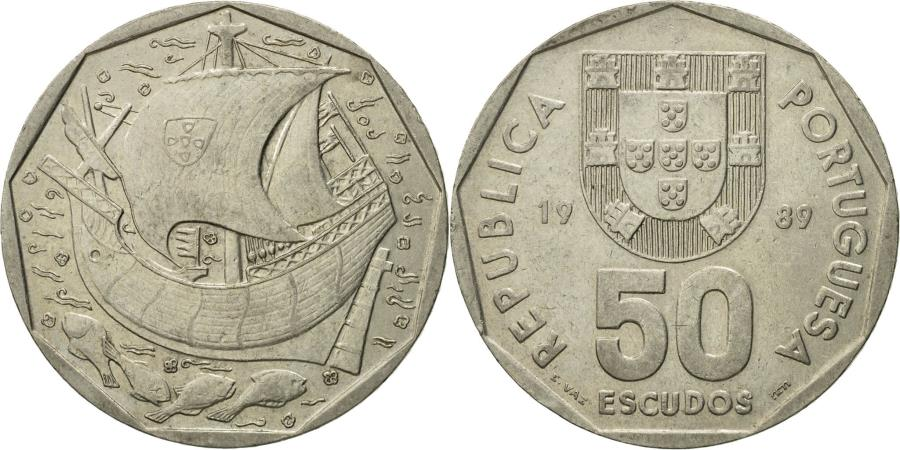 World Coins - Coin, Portugal, 50 Escudos, 1989, , Copper-nickel, KM:636