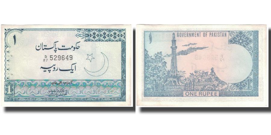 World Coins - Banknote, Pakistan, 1 Rupee, KM:24a, AU(55-58)