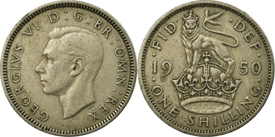 World Coins - Coin, Great Britain, George VI, Shilling, 1950, , Copper-nickel, KM:876