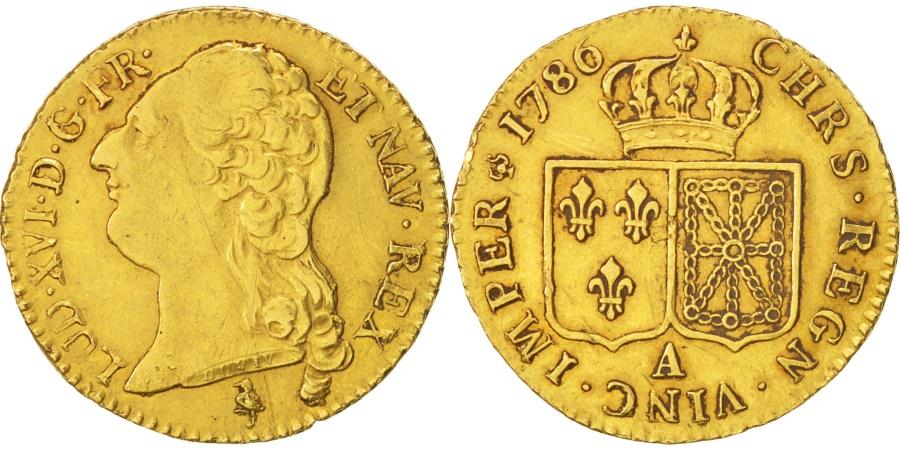 World Coins - France, Louis XVI, Louis d'or à la tête nue, 1786, Paris, KM 591.1