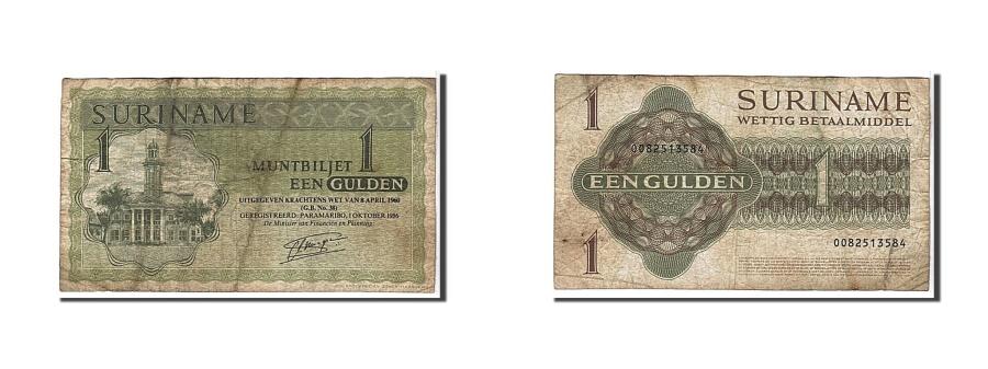 World Coins - Suriname, 1 Gulden, 1986, KM #116i, VF(20-25), 0082513584