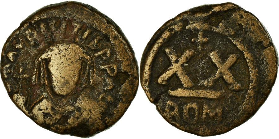 Ancient Coins - Coin, Maurice Tiberius, Half Follis, 583-602, Rome, , Copper, Sear:587
