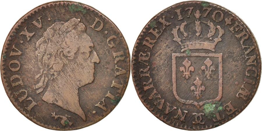 World Coins - FRANCE, Sol à la vieille tête, Sol, 1770, Besan, KM #545.13, , Copper,
