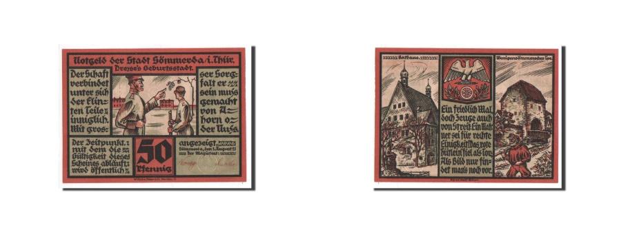 World Coins - Germany, Sommerda Thur, 50 Pfennig, 1921, UNC(65-70), Mehl #1230.1