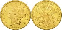 Us Coins - United States,Liberty Head,$20,Double Eagle,1875,San Francisco,AU(50-53),KM 74.2
