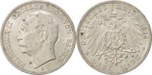 World Coins - German States, BADEN, Friedrich II, 3 Mark, 1914, Stuttgart, Silver, KM:280