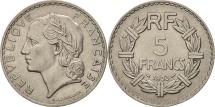 France, Lavrillier, 5 Francs, 1933, Paris, AU(50-53), Nickel, KM:888