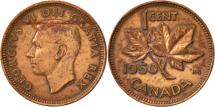 World Coins - Canada, George VI, Cent, 1950, Royal Canadian Mint, Ottawa, EF(40-45), Bronze