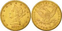 Us Coins - United States, Coronet Head, $10, 1887, San Francisco, AU(55-58), Gold, KM:102