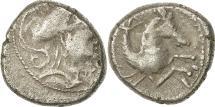 Ancient Coins - Allobroges, Denier à l'hippocampe, VF(30-35), Silver, Delestré:3125