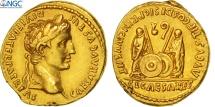 Augustus, Aureus, Lyons, NGC AU 5/4, Gold, RIC:206
