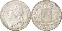 France, Louis XVIII, 5 Francs, 1824, Lille, Silver, KM:711.13