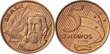 World Coins - Brazil, 5 Centavos, 1998, AU(55-58), Copper Plated Steel, KM:648