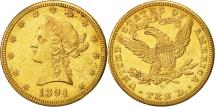 Us Coins - United States, Coronet Head, $10, 1894, New Orleans, AU(50-53), Gold, KM:102