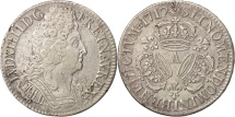 France, Louis XIV, Écu aux 3 couronnes, 1712, Paris, EF(40-45), KM 386.1