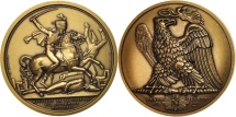 World Coins - France, Medal, Bataille de la Moskowa, History, MS(65-70), Bronze