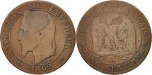World Coins - France, Napoleon III, 5 Centimes, 1862, Paris, F(12-15), Bronze, KM 797.1
