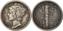 Us Coins - United States, Mercury Dime, Dime, 1917, U.S. Mint, Philadelphia, AU(50-53)