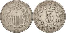 Us Coins - United States, Shield Nickel, 5 Cents, 1867, U.S. Mint, Philadelphia, EF(40-45)