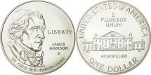 Us Coins - United States, Dollar, James Madison, 1993, MS(65-70), Silver, KM:241