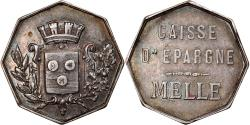 World Coins - France, Token, Savings Bank, Caisse d'Epargne de Melle, Business & industry
