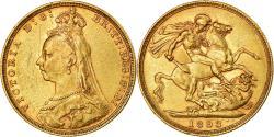 World Coins - Coin, Australia, Victoria, Sovereign, 1893, Melbourne, , Gold, KM:10