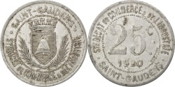 World Coins - France, 25 Centimes, 1920, , Aluminium, Elie #10.3, 2.29