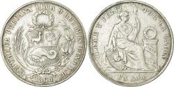 World Coins - Coin, Peru, SOUTH PERU, Sol, 1868, Lima, , Silver, KM:196.3