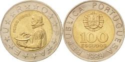 World Coins - Portugal, 100 Escudos, 1989, , Bi-Metallic, KM:645.2