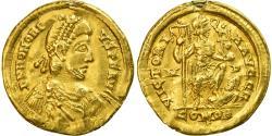 Coin, Honorius, Solidus, 395-402, Milan, EF(40-45), Gold, RIC:1206C
