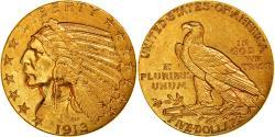 Us Coins - Coin, United States, Indian Head, $5, Half Eagle, 1913, U.S. Mint, Philadelphia