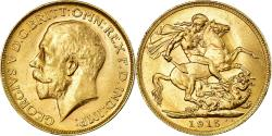 World Coins - Coin, Australia, George V, Sovereign, 1915, Perth, , Gold, KM:29